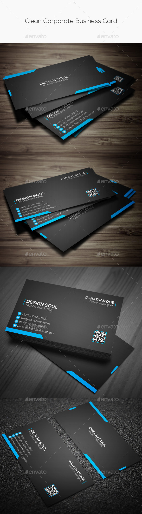 GraphicRiver Clean Corporate Business Card 9585564