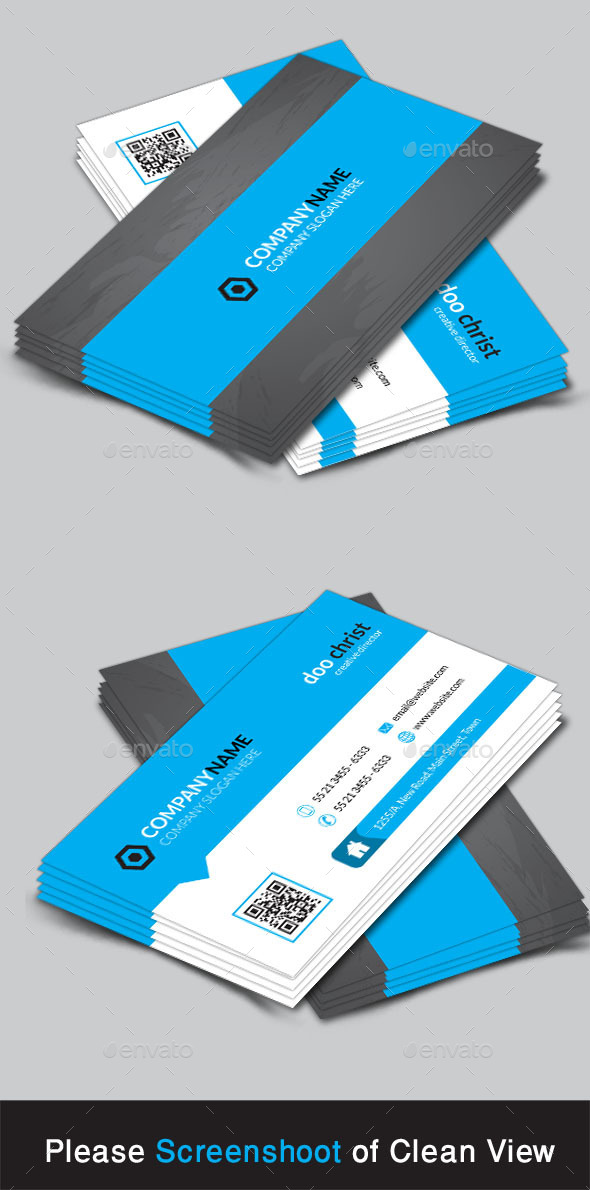GraphicRiver Corporate Business Card 9585577