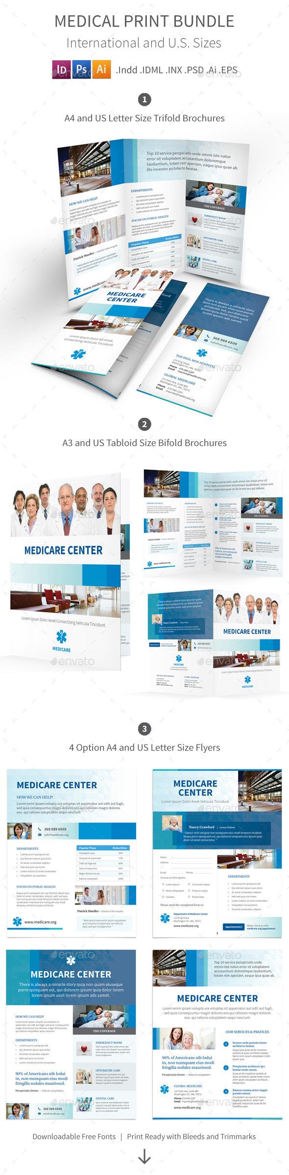 GraphicRiver Medical Print Bundle 9585599