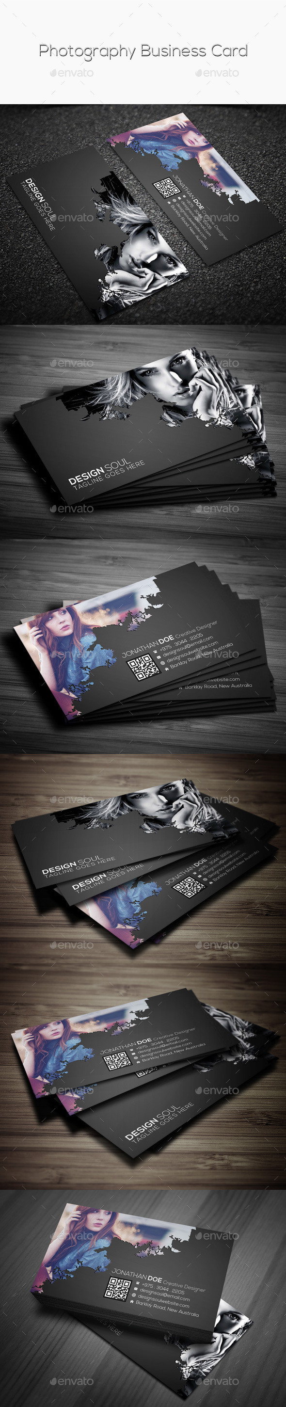 GraphicRiver Photography Business Card 9586138