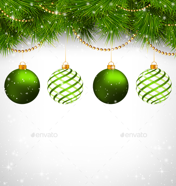 GraphicRiver Spiral Christmas Balls 9586148
