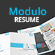 Modulo Resume Template - GraphicRiver Item for Sale