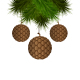 Brown Cones like Christmas Balls - GraphicRiver Item for Sale
