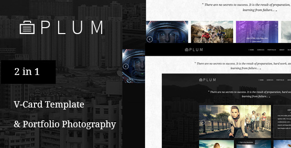 ThemeForest Plum V-Card & Portfolio Gallery PSD Template 9586570