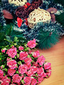 Bouquet of pink roses on a background decorations  - PhotoDune Item for Sale