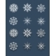 Set of White Snowflakes - GraphicRiver Item for Sale