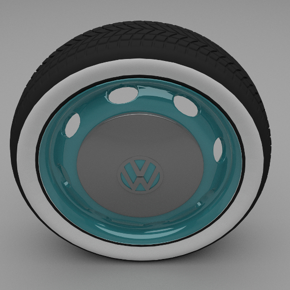 VW Beetle Wheel - 3DOcean Item for Sale