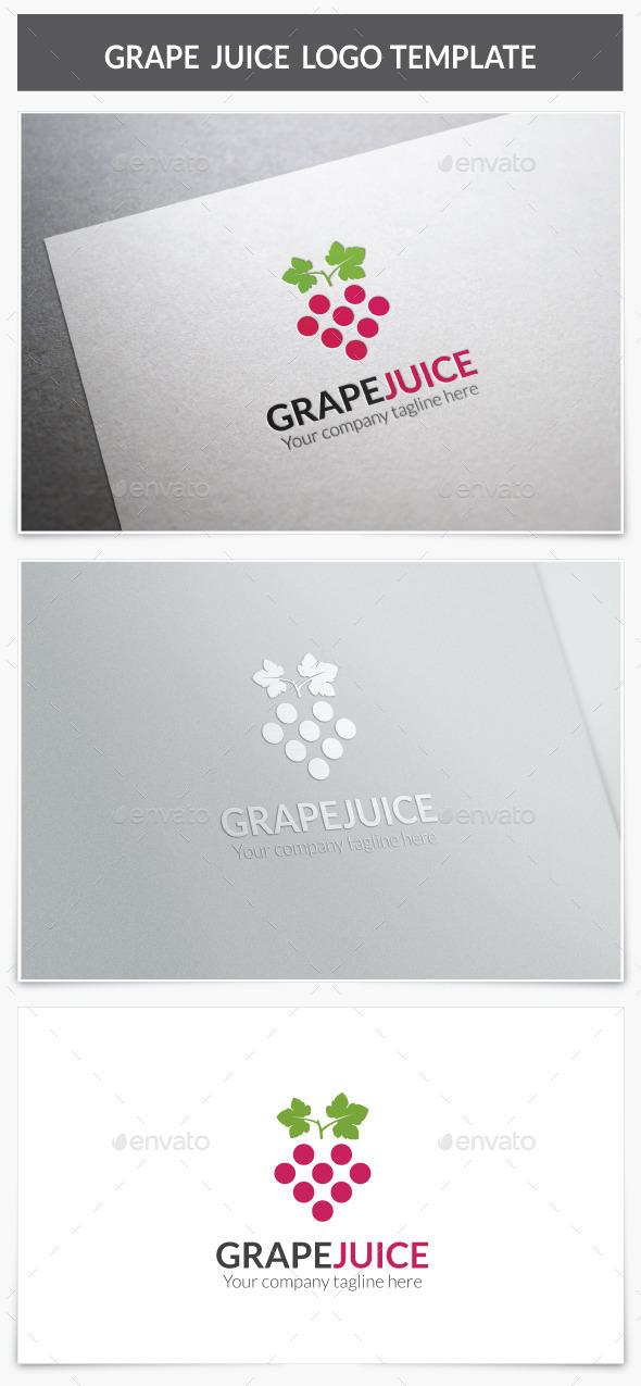 GraphicRiver Grape Juice Logo 9586796