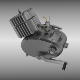 Two stroke moped motorcycle engine