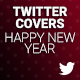 Twitter Covers - Happy New year - GraphicRiver Item for Sale