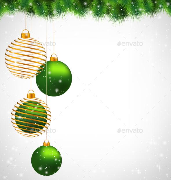GraphicRiver Spiral Golden Christmas 9587396