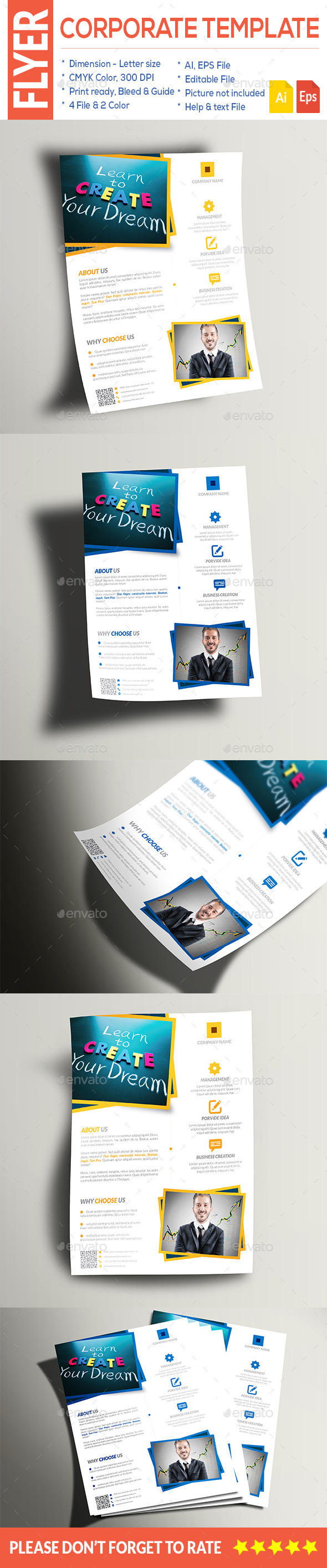 GraphicRiver Multipurpose Corporate Flyer 9587403