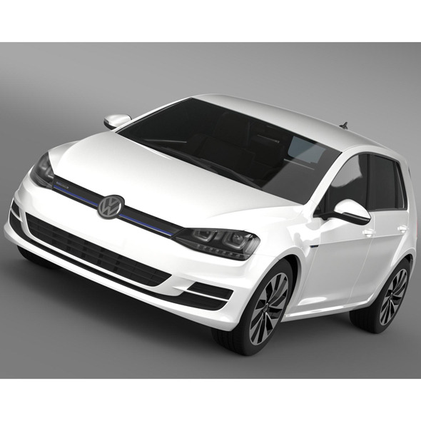 VW Golf BlueMotion Concept Typ 5G 2012 - 3DOcean Item for Sale