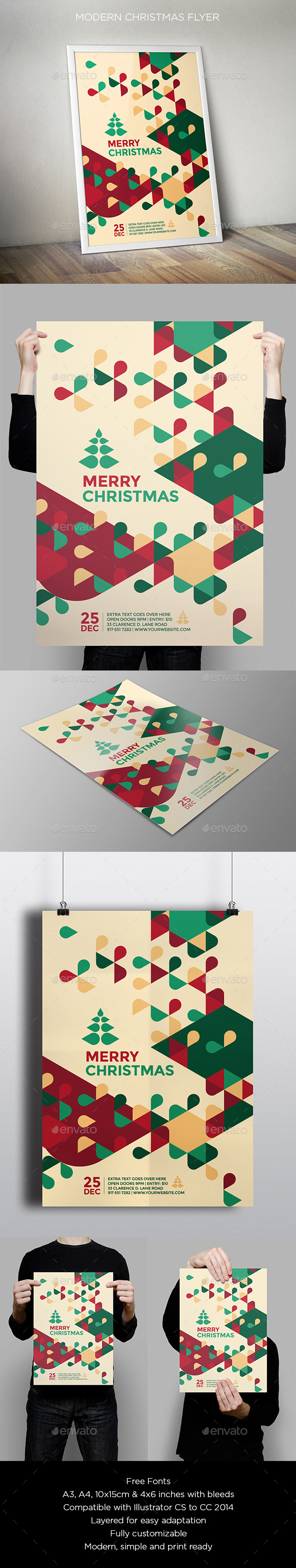 GraphicRiver Modern Christmas Flyer 9587884