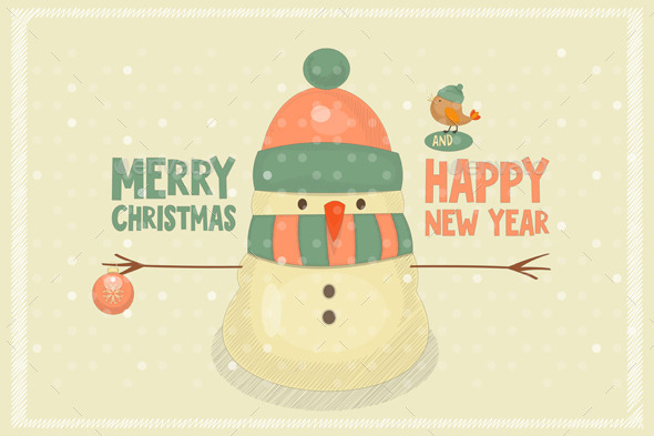 GraphicRiver Merry Christmas Greeting Card 9587957