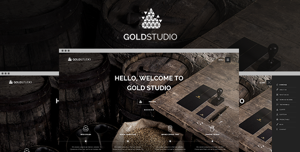 ThemeForest Gold Creative HTML5 Template 9332344