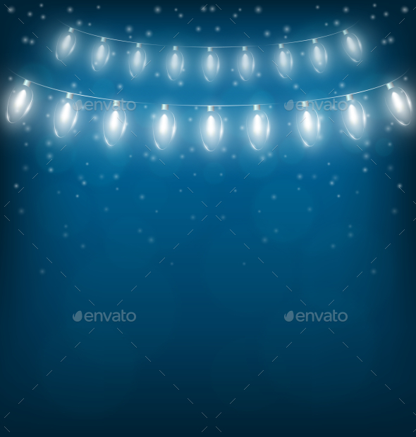 GraphicRiver Christmas Lights Garlands 9588018