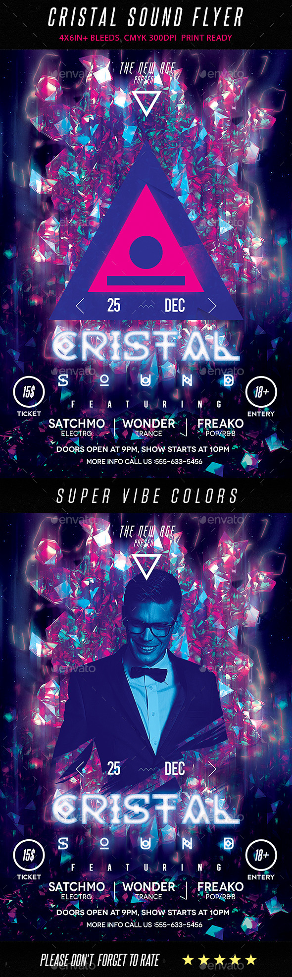GraphicRiver Cristal Sound Flyer 9588022