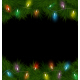 Multicolored Christmas Lights on Pine Branches - GraphicRiver Item for Sale