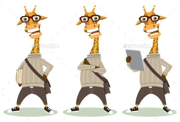 GraphicRiver Hipster Giraffe 9588115
