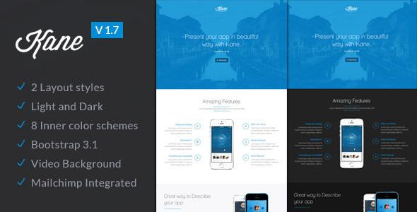 ThemeForest Kane Responsive Joomla App Landing Page 9318678