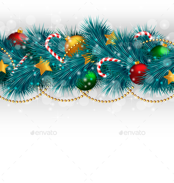 GraphicRiver Christmas Branches 9588174