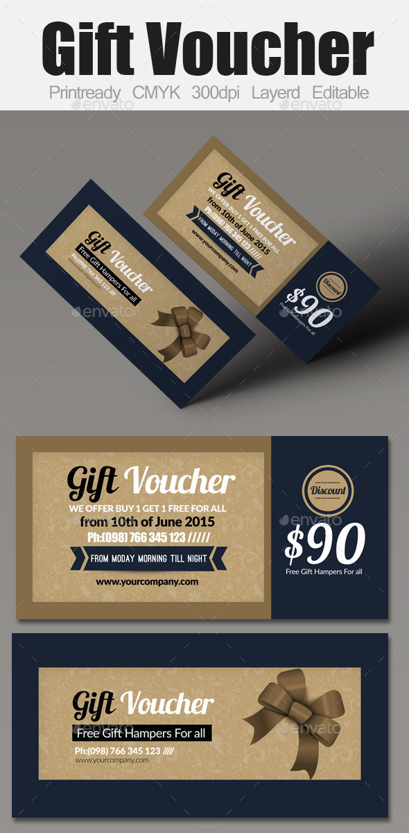 GraphicRiver Multi Use Business Gift Voucher 9588184