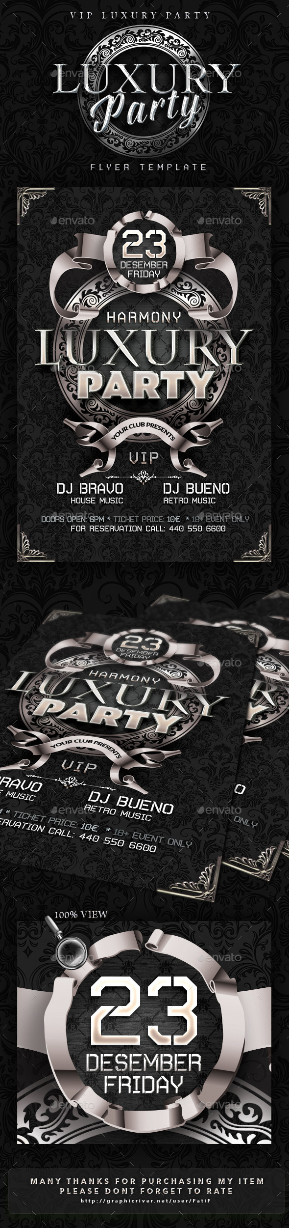 GraphicRiver Luxury Party Flyer Template 9588246