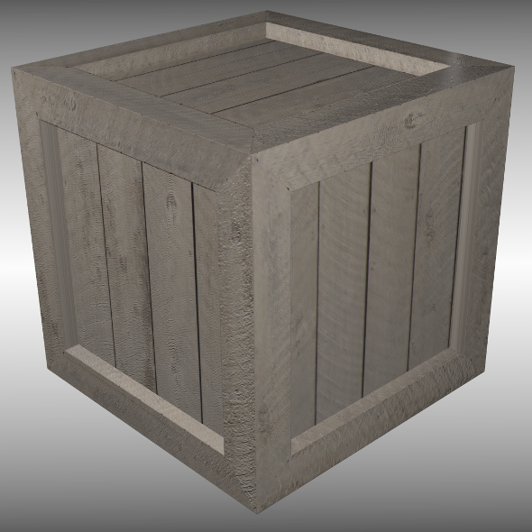 Wooden crate - 3DOcean Item for Sale
