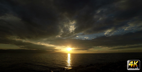 Sunset and Clouds and Sea 2