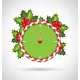 Candy Cane Clock with Holly  - GraphicRiver Item for Sale