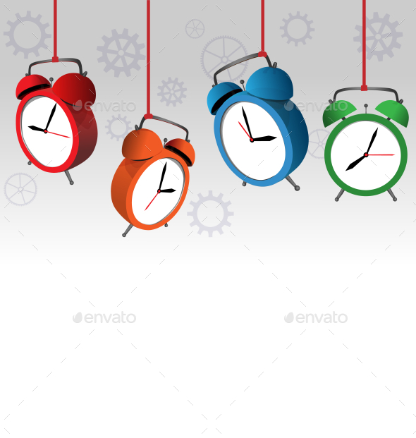 GraphicRiver Alarm Clock Background 9588344