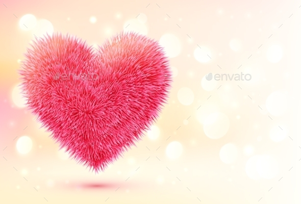 GraphicRiver Fluffy Heart 9588458