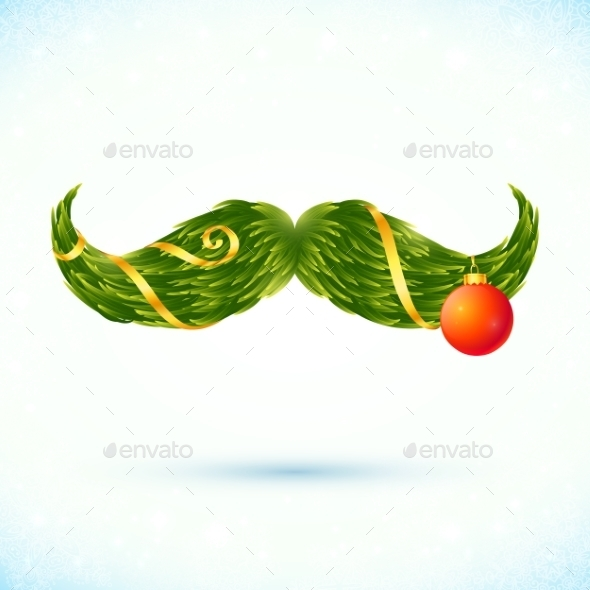 GraphicRiver Christmas Mustache 9588505