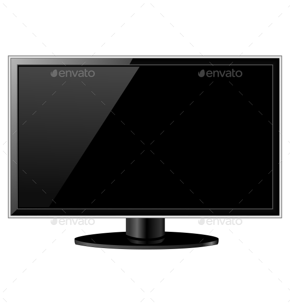 GraphicRiver Black Glossy TV 9588582
