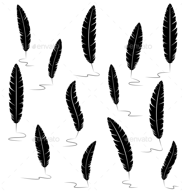 GraphicRiver Writing Feathers 9588666