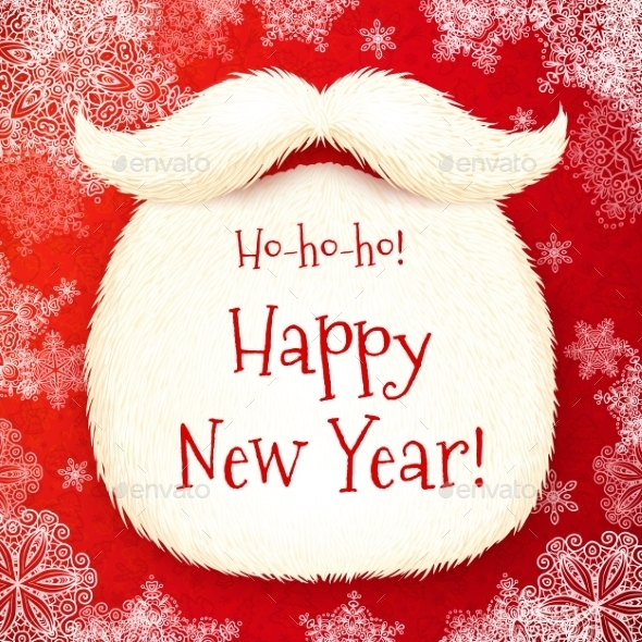 GraphicRiver Santa s Beard with Happy New Year 9588668