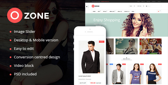 ThemeForest Ozone Multi-Purpose Responsive Prestashop Theme 9372406