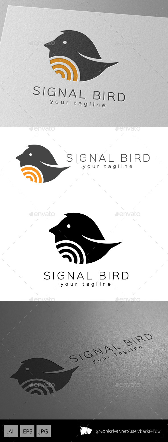 GraphicRiver Signal Bird Logo Design 9589063