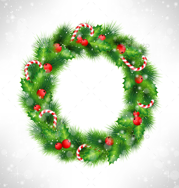 GraphicRiver Christmas Wreath 9589190