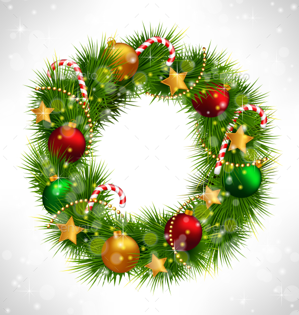 GraphicRiver Christmas Wreath 9589207