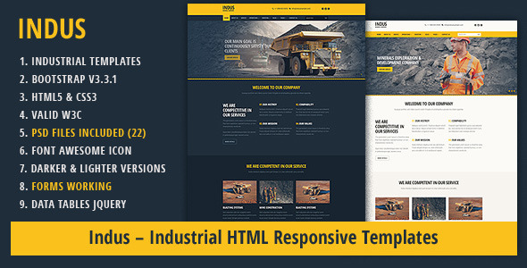 ThemeForest Indus Industrial HTML Responsive Templates 9589222