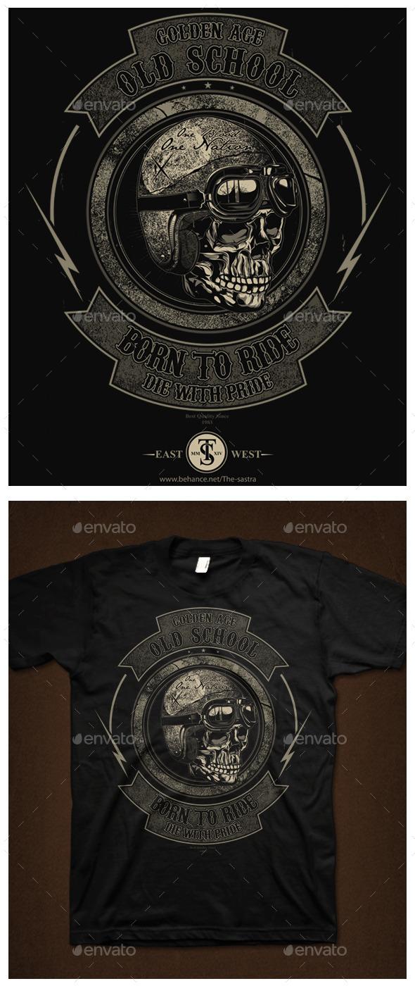 GraphicRiver Biker Skull 9563798