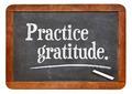 practice gratitude on blackboard - PhotoDune Item for Sale