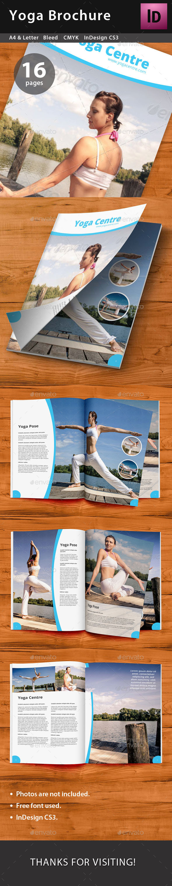 GraphicRiver Yoga Brochure 9493661