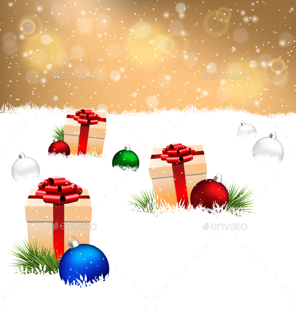 GraphicRiver Gift Boxes Christmas Background 9589307
