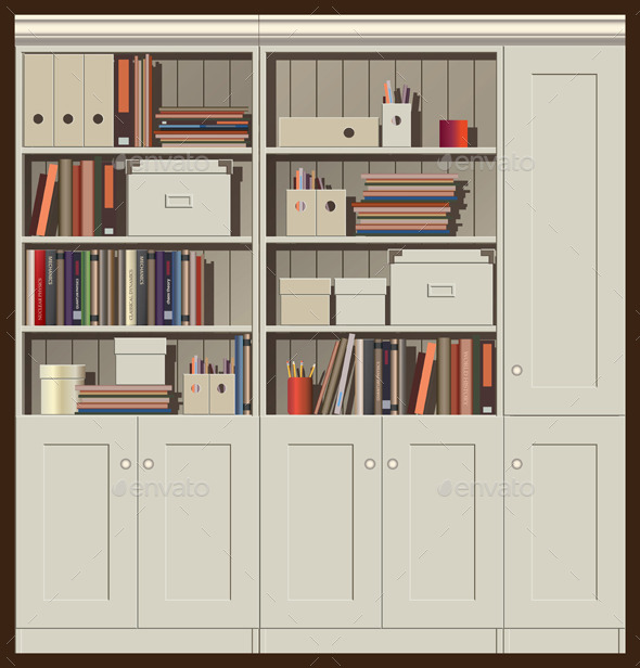 GraphicRiver Bookcase 9589311