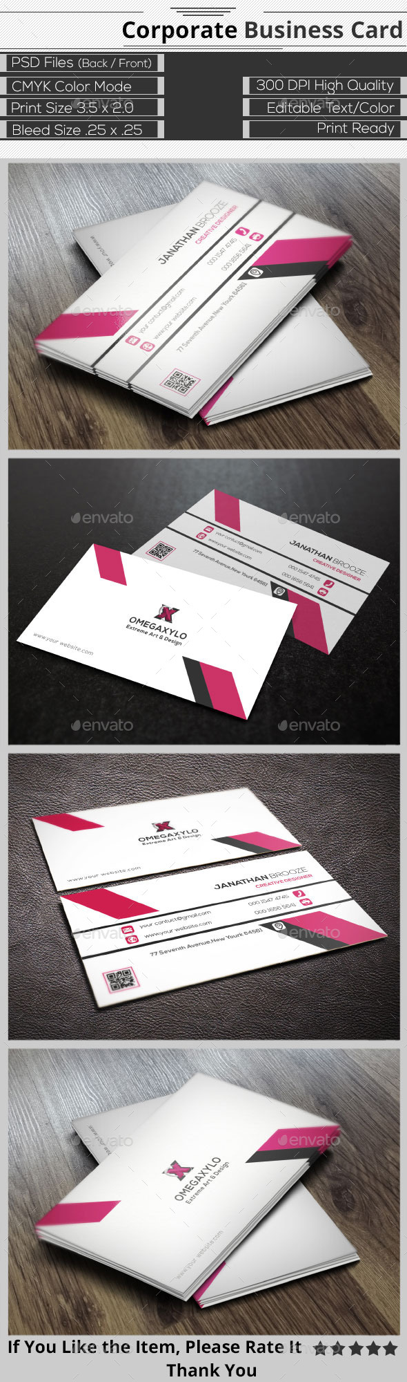 GraphicRiver Elegant Corporate Business Card 9589383