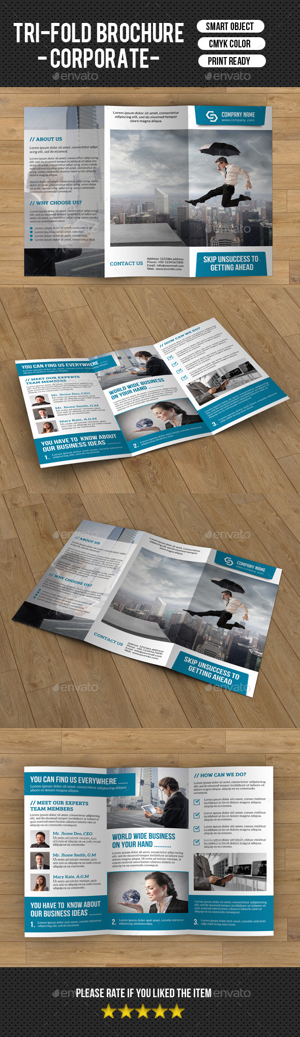 Trifold Corporate Brochure Template-v189
