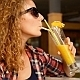 Stylish Girl Drinking Fresh Juice - VideoHive Item for Sale
